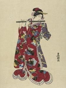 Yokobue, Seven Hole Chinese Flute by Toyokuni