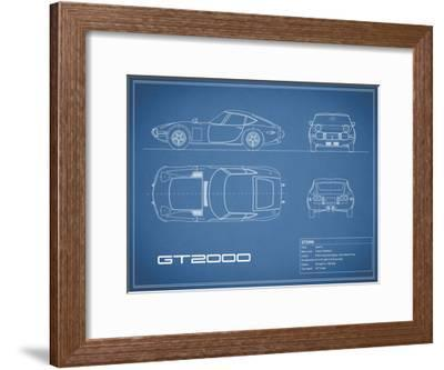 Toyota GT2000-Blue-Mark Rogan-Framed Giclee Print
