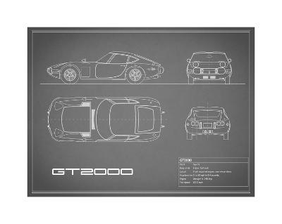 Toyota GT2000-Grey-Mark Rogan-Giclee Print