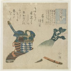 Story of a Warrior in Tsukushi Province, C. 1834 by Toyota Hokkei