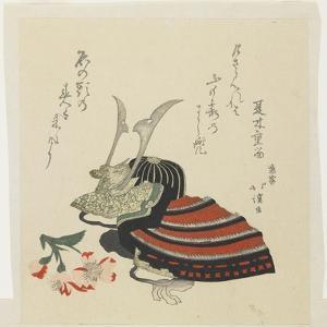 Warrior's Helmet and Azalea for the Boy's Festival by Toyota Hokkei