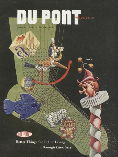 Toys, Front Cover of the 'Dupont Magazine', December 1949-January 1950--Giclee Print