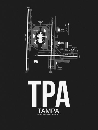 TPA Tampa Airport Black-NaxArt-Art Print