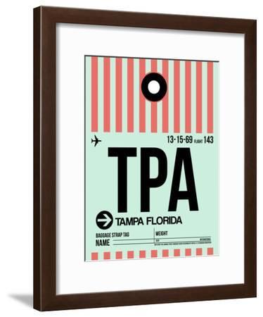 TPA Tampa Luggage Tag 1-NaxArt-Framed Art Print