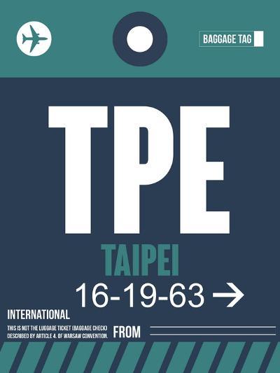 TPE Taipei Luggage Tag 1-NaxArt-Art Print