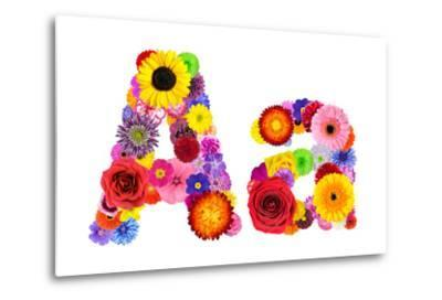 Flower Alphabet Isolated On White - Letter A