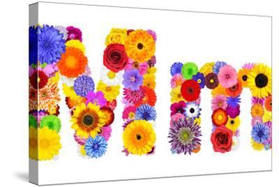 Flower Alphabet Isolated On White - Letter M
