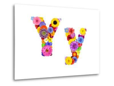 Flower Alphabet Isolated On White - Letter Y
