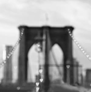 Brooklyn Hearts BW by Tracey Telik