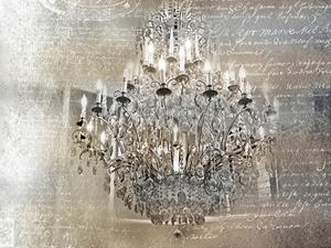 Silver Gold Chandelier by Tracey Telik