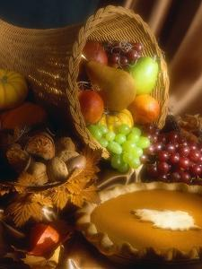 Basket of Fruit and Pumpkin Pie by Tracey Thompson