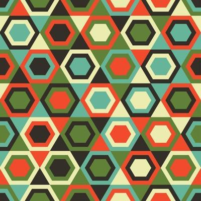 Seamless Retro Geometric Pattern by Tracie Andrews