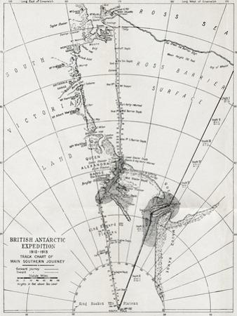 Track Chart of the Main Southern Journey of Robert Falcon Scott's Terra Nova Expedition