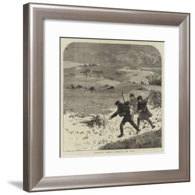 Tracking Rabbits Through the Snow-Harrison William Weir-Framed Giclee Print