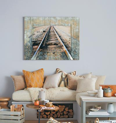 Tracks  - Dimensional Metal Wall Art--Home Accessories