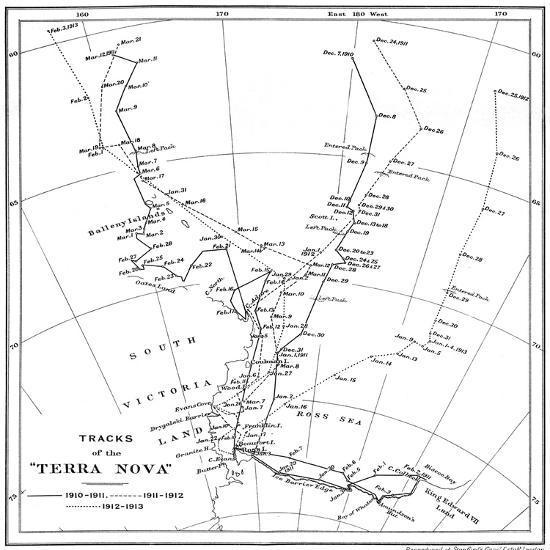 'Tracks of the Terra Nova', 1910-1913, (1913)-Unknown-Giclee Print