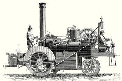 Traction Engine or Steam Car Invented by M. Lotz from Nantes--Giclee Print