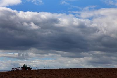 Tractor Ploughing Field, Near Fenor, County Waterford, Ireland--Photographic Print