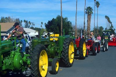 Tractors in Parade, Carrot & BBQ Cook-Off, Holtville, California--Photographic Print