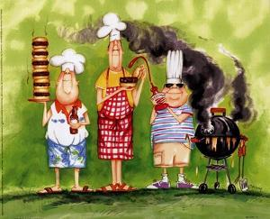 BBQ Chefs II by Tracy Flickinger