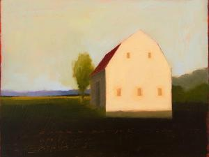 Moody White Gambrel by Tracy Helgeson