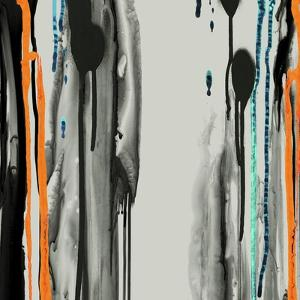 Gray Paint Drips by Tracy Hiner