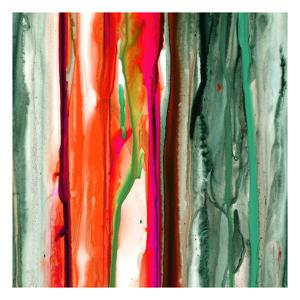 Green Pink Drips B by Tracy Hiner
