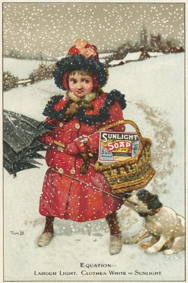 Trade Card for Sunlight Soap, C1900-Tom Browne-Giclee Print