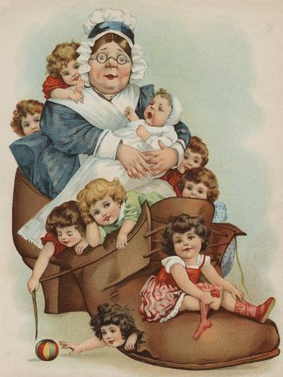 Trade Card with the Old Woman Who Lived in a Shoe-Paper Rodeo-Giclee Print