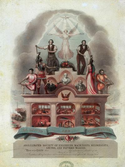 Trade Union Scroll, 1851--Giclee Print