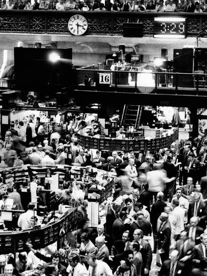 Trading Floor of the New York Stock Exchange on August 16, 1971--Photo