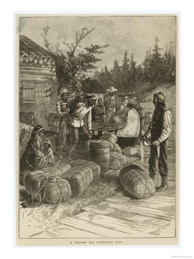 Trading Post of the Hudson's Bay Company Canada--Giclee Print