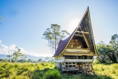 Traditional Batak House in Lake Toba, Sumatra, Indonesia, Southeast Asia-John Alexander-Photographic Print