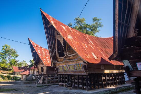 Traditional Batak House in Lake Toba, Sumatra, Indonesia, Southeast Asia-John Alexander-Photographic Print
