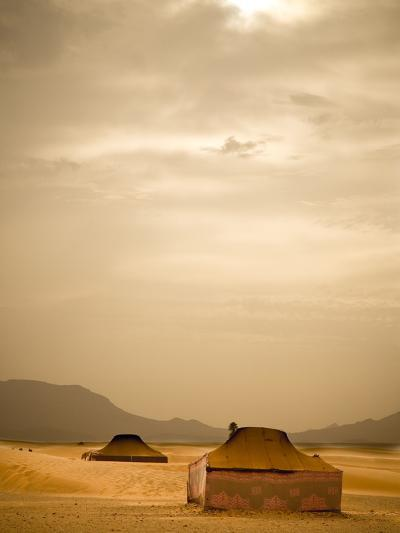 Traditional Bedouin Tents in the Sahara Desert, Near Zagora, Merzouga, Morocco, North Africa-Ian Egner-Photographic Print
