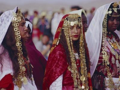 Traditional Berber Wedding, Tataouine Oasis, Tunisia, North Africa-J P De Manne-Photographic Print