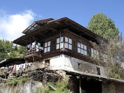 Traditional Bhutanese House in the Bumthang Valley, Bhutan, Asia-Lee Frost-Photographic Print