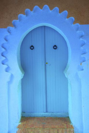 Traditional Blue Painted Door, Chefchaouen, Morocco, North Africa, Africa-Neil Farrin-Photographic Print