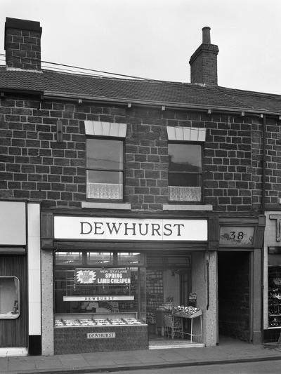 Traditional Butchers Shop in the South Yorkshire Town of Mexborough, 1962-Michael Walters-Photographic Print