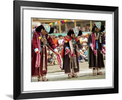 Traditional Dances, Ladakh, India-Jaina Mishra-Framed Photographic Print