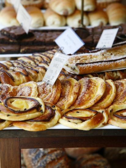Traditional Danish Pastry at Bager Lucas Bakery in Tonder, Jutland, Denmark, Scandinavia, Europe-Yadid Levy-Photographic Print