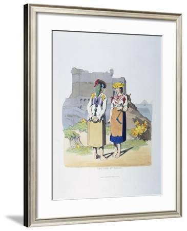 Traditional Dress from Lerici--Framed Giclee Print