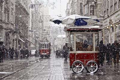 Traditional Fast Food of Istanbul on Beyoglu-mahmut enc-Photographic Print