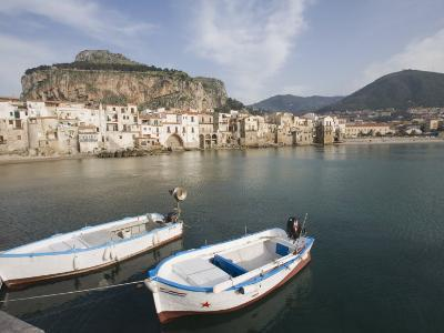 Traditional Fishing Boats and Fishermens Houses, Cefalu, Sicily, Italy, Europe-Martin Child-Photographic Print