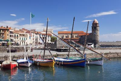 Traditional Fishing Boats at the Port, France-Markus Lange-Photographic Print