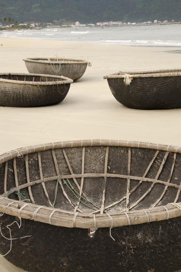 Traditional Fishing Boats, Bac My an Beach, Hoi An, Da Nang, Vietnam-Cindy Miller Hopkins-Photographic Print