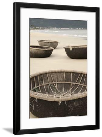 Traditional Fishing Boats, Bac My an Beach, Hoi An, Da Nang, Vietnam-Cindy Miller Hopkins-Framed Photographic Print
