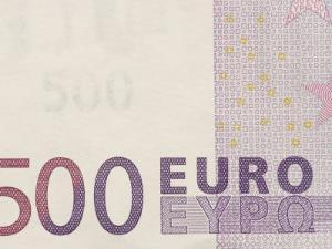 Traditional Five Hundred Euro Banknote