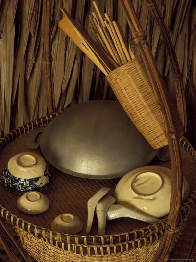 Traditional Food Basket, Vietnam-Keren Su-Photographic Print