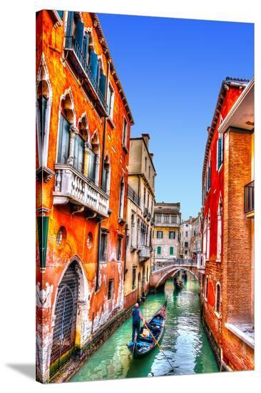 Traditional Gondolas in Venice--Stretched Canvas Print